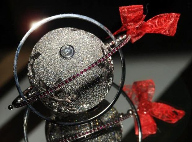 most expensive Christmas ornament white gold diamonds