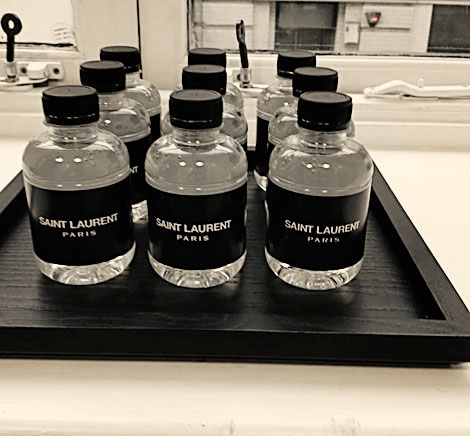 most fashionable water Saint Laurent Paris water