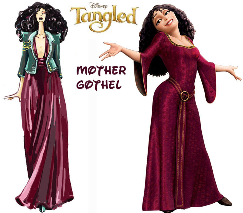 Mother Gothel fashion update Disney Villains Tangled