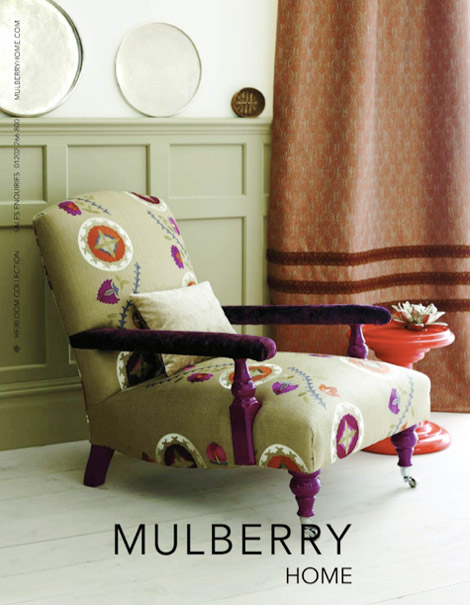 Mulberry And Christian Lacroix Into Home Decoration