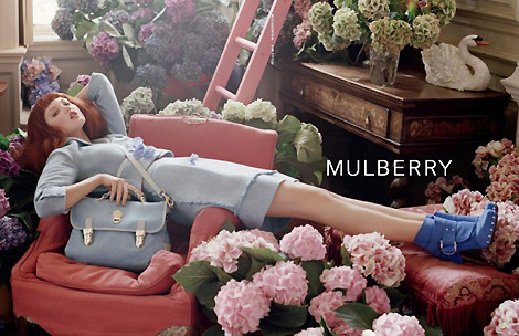 Mulberry Spring Summer 2011 ad campaign Lindsey Wixson