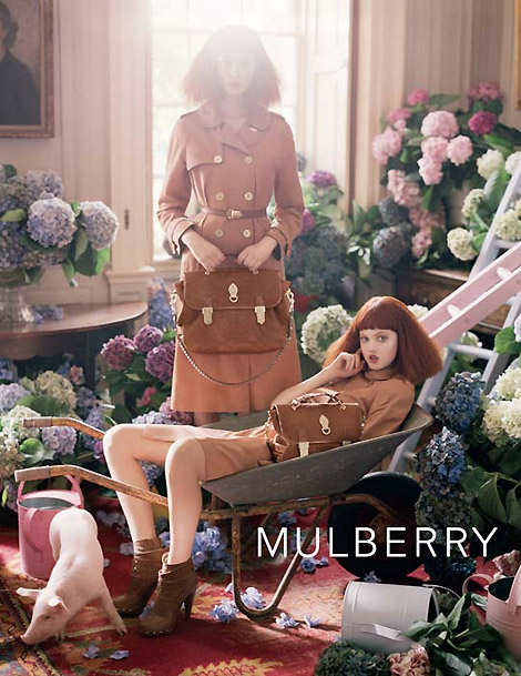 Lindsey Wixson, Nimue Smith Mulberry Summer 2011 Ad Campaign