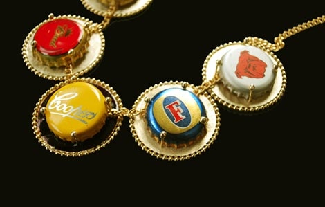 Multi beer cap necklace Jung Ee Eun