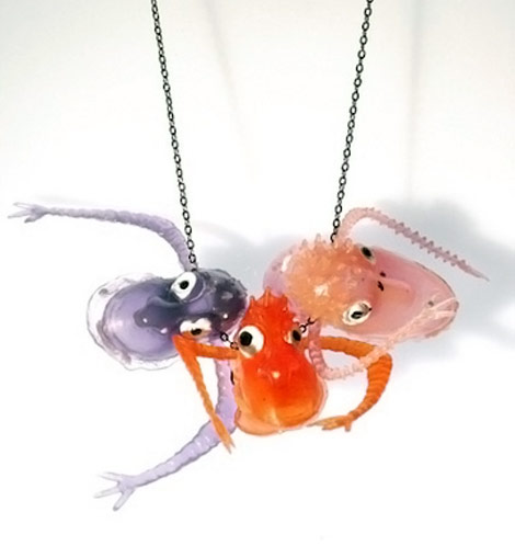 Multi Monster Toy Necklace