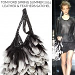 must have bag this season Tom Ford leather feathers satchel