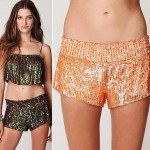 must have party item sequined shorts