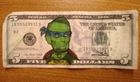 Easy Mutant Money The Five Dollars Bill Gets A Makeover