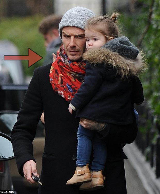 mysterious thumb on David Beckham s shoulder