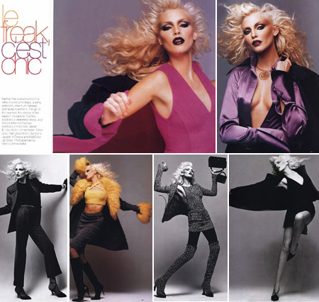 Nadja Auermann Harpers Bazaar September 1994 Spread