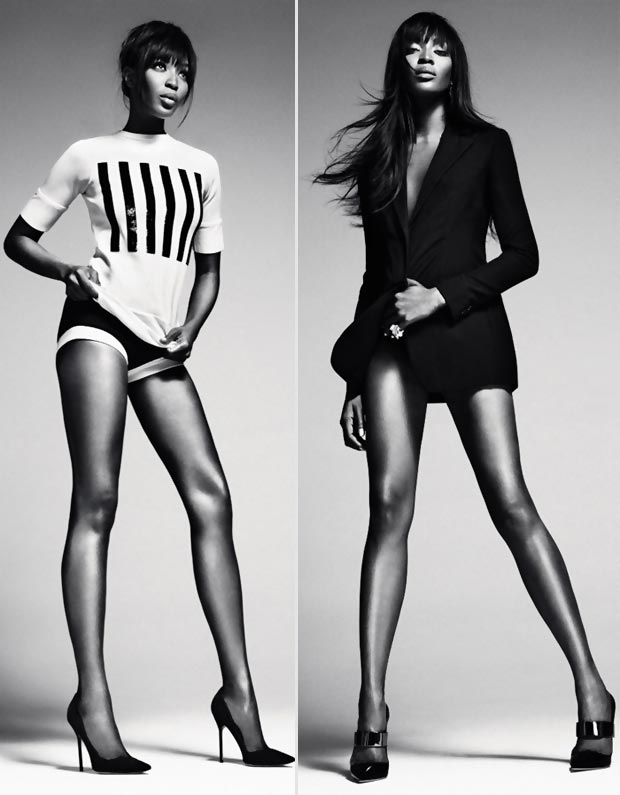 Naomi Campbell s endless legs Numero Russia first issue
