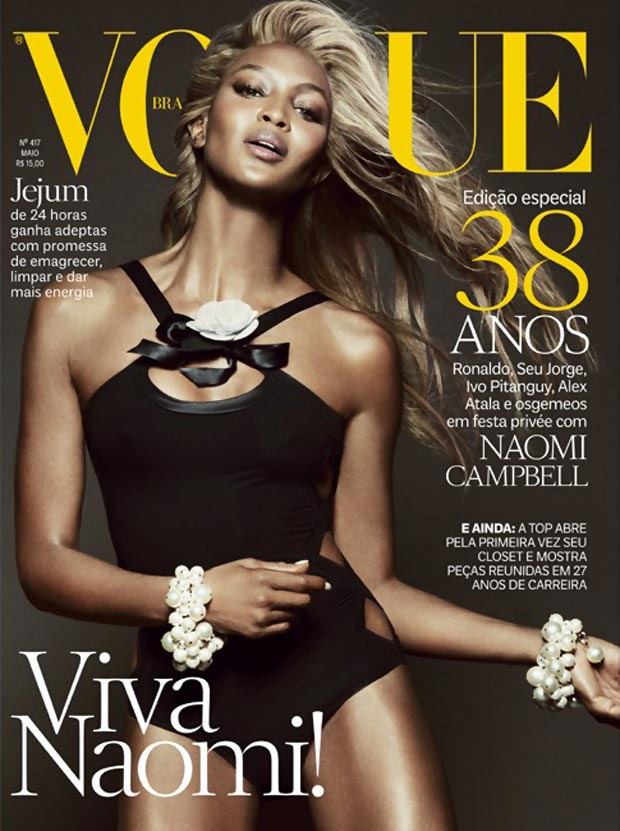 Naomi Campbell stunning Vogue Brazil May 2013 cover