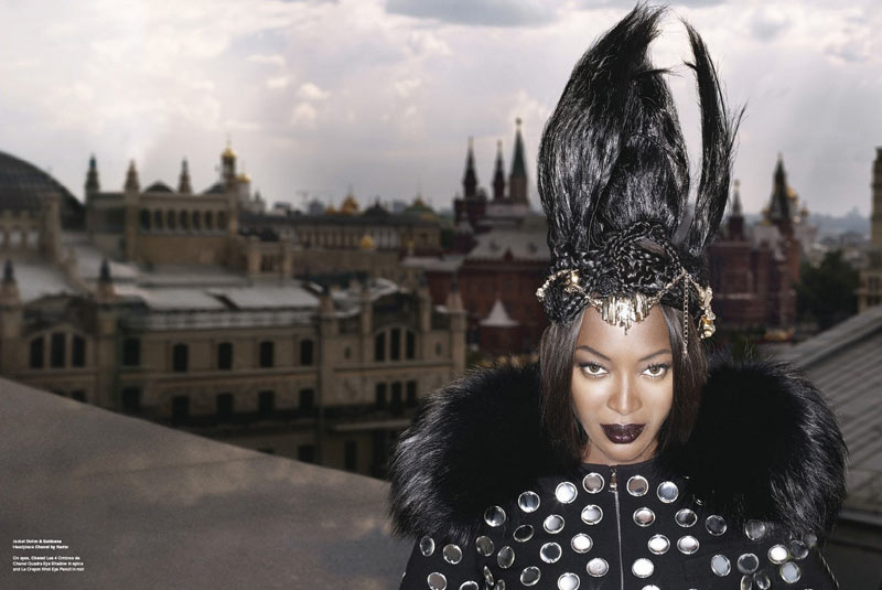 Naomi Campbell v61 Stranger in Moscow Lagerfeld 1