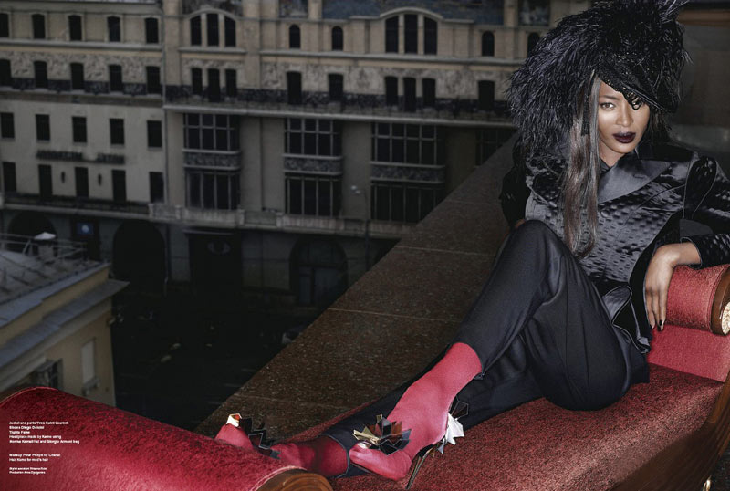Naomi Campbell v61 Stranger in Moscow Lagerfeld 4