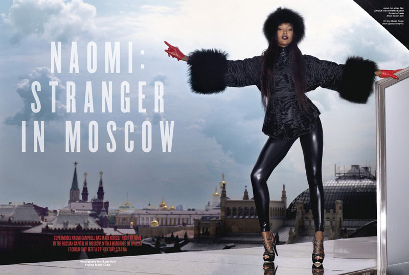 Naomi Campbell v61 Stranger in Moscow Lagerfeld 5