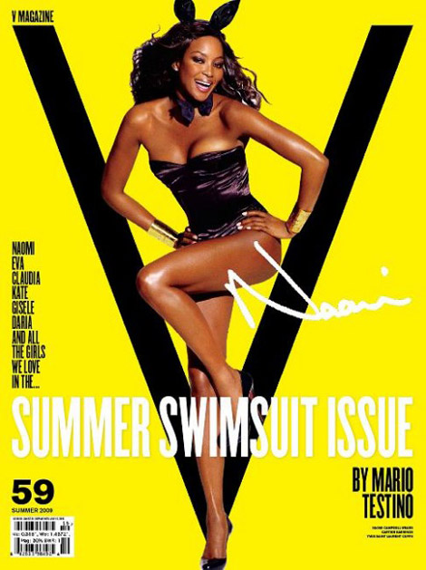 Naomi Campbell v59 Mario Testino Swimsuit issue cover