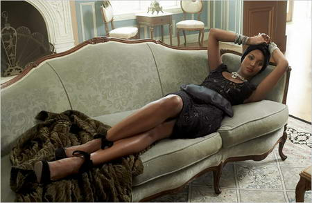 Naomi Campbell Vogue Italia All Black Issue July 2008 Photo