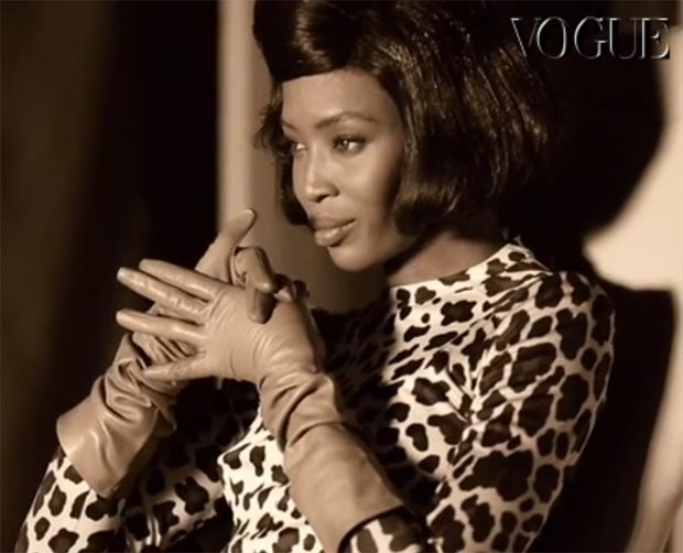 Naomi Campbell Vogue Italy by Steven Meisel
