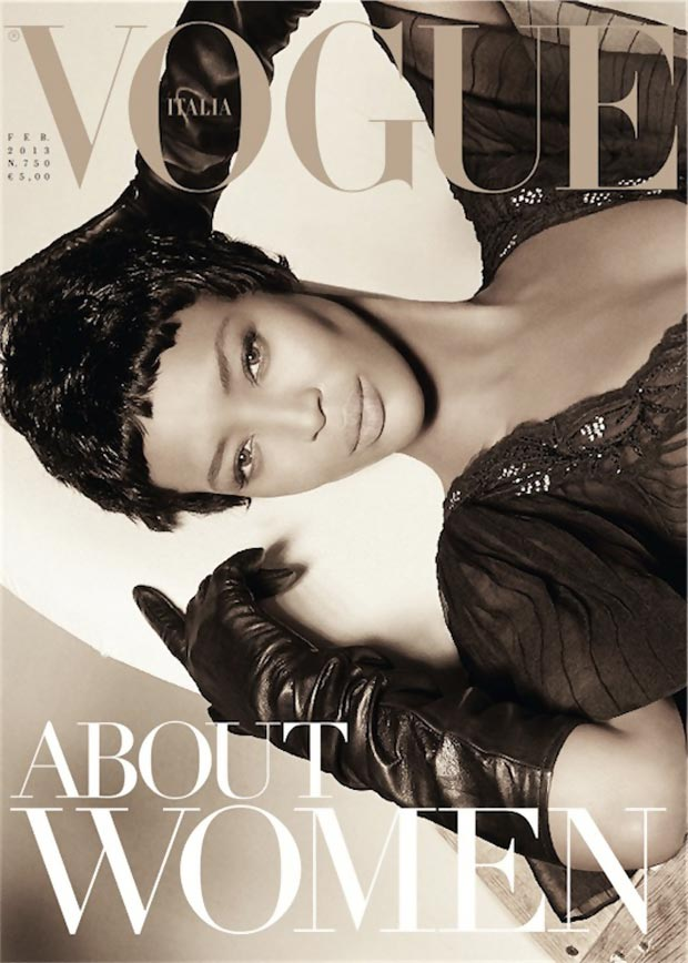 Naomi Campbell Vogue Italy February 2013 cover