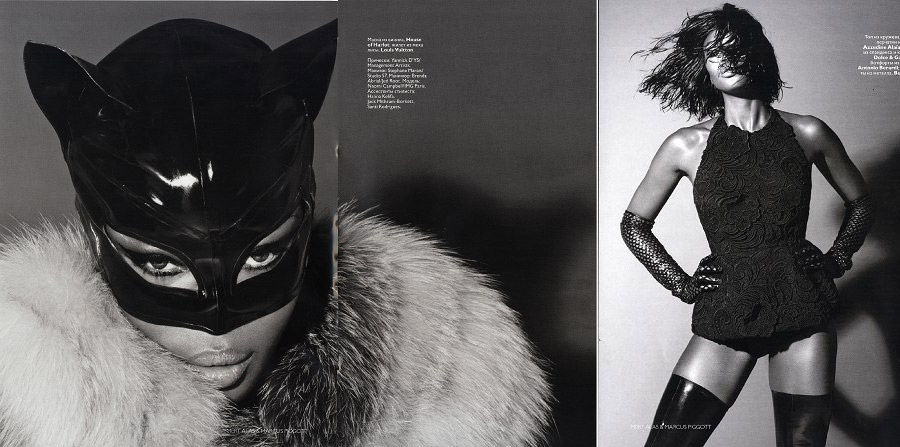 Naomi Campbell Vogue Russia December 2008 issue