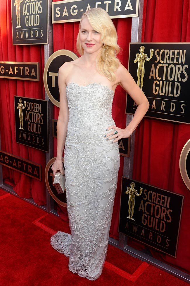 Naomi Watts light gray dress 2013 SAG Awards