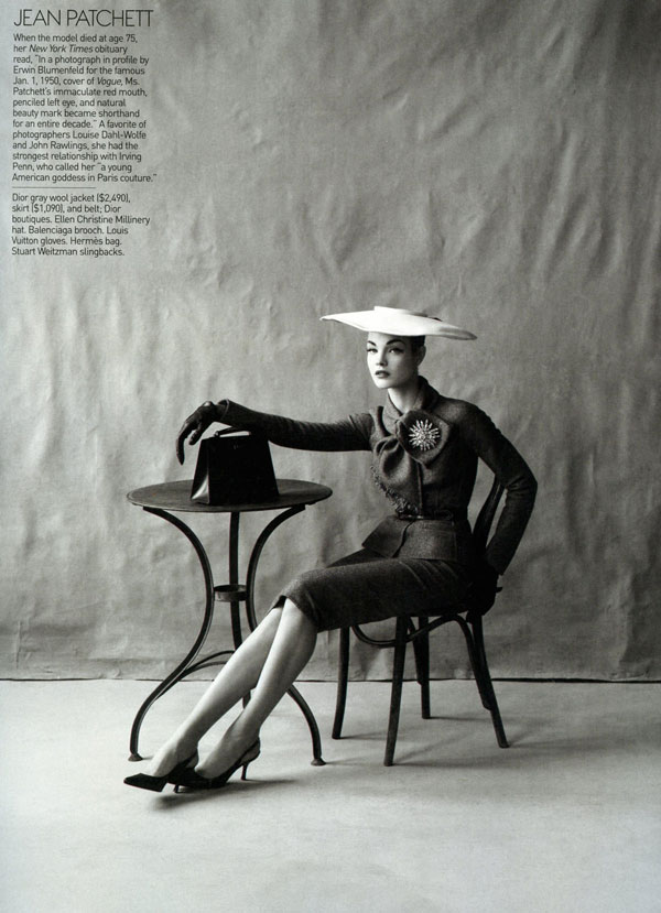 Natalia Vodianova as Jean Patchett Vogue May 09