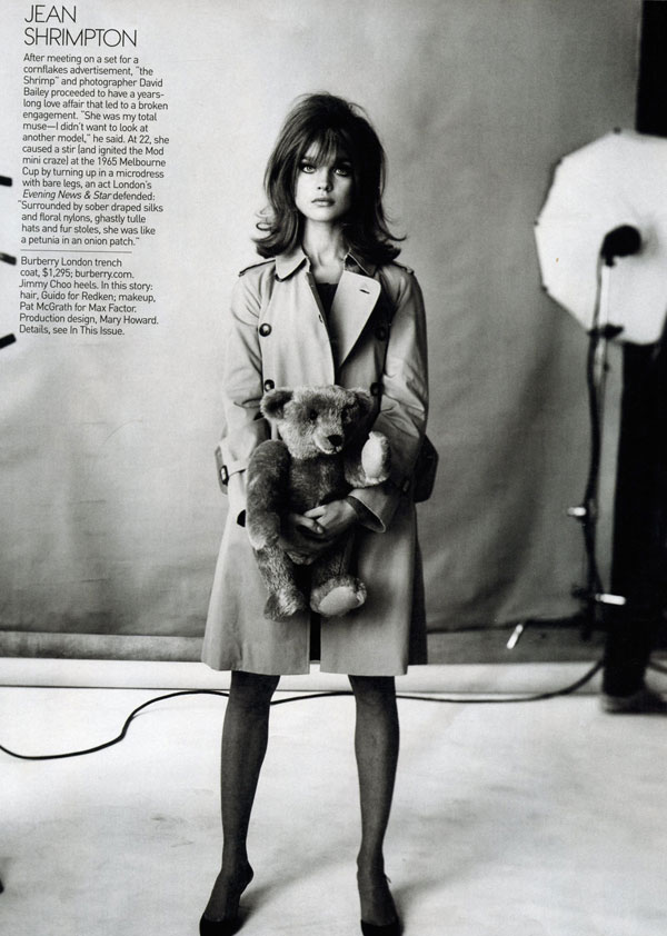 Natalia Vodianova as Jean Shrimpton Vogue May 09