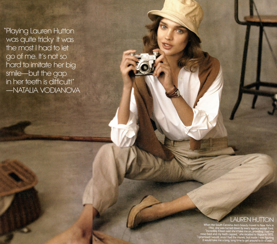 Natalia Vodianova as Lauren Hutton Vogue May 09