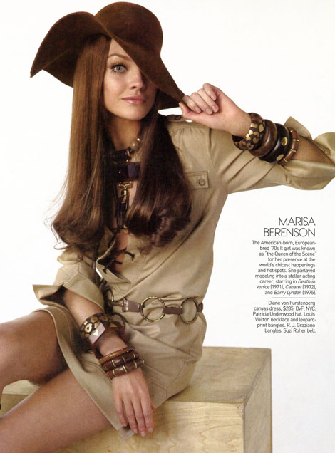 Natalia Vodianova as Marisa Berenson Vogue US May09
