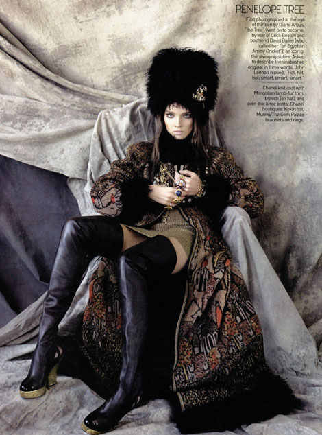 Natalia Vodianova as Penelope Tree Vogue US May09