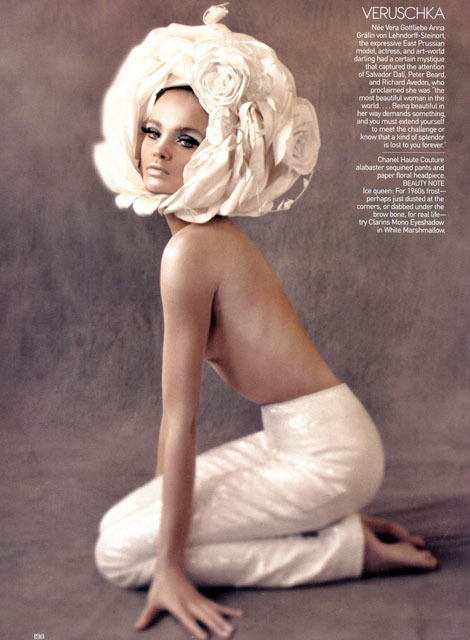 Natalia Vodianova as Verushka Vogue US May 09
