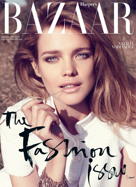 Natalia Vodianova UK Harper s Bazaar September 2009 cover