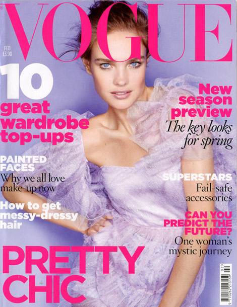 Natalia Vodianova Vogue UK February 2010 cover