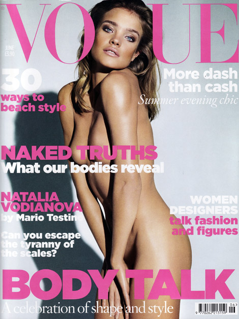 Natalia Vodianova Covers Vogue UK June 2009