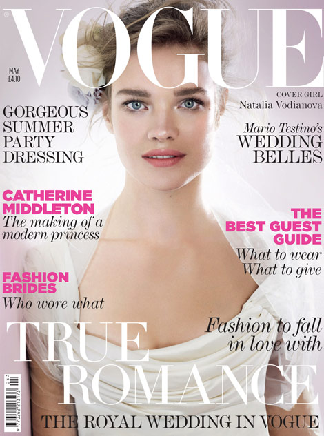 Natalia Vodianova Vogue UK May 2011 cover