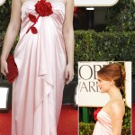 Natalie Portman pink dress Golden Globes 2011