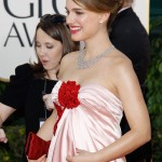 Natalie Portman pink dress Golden Globes 2011 2