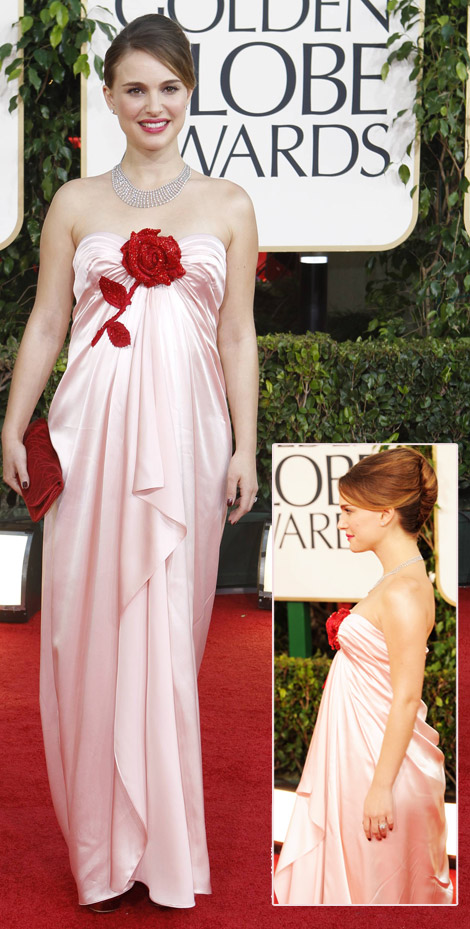 natalie portman dress golden globes 2011