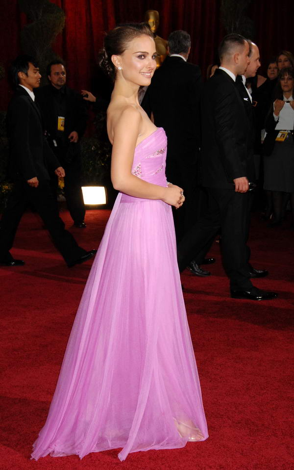 Natalie Portman In Pink Rodarte Dress For 2009 Oscars