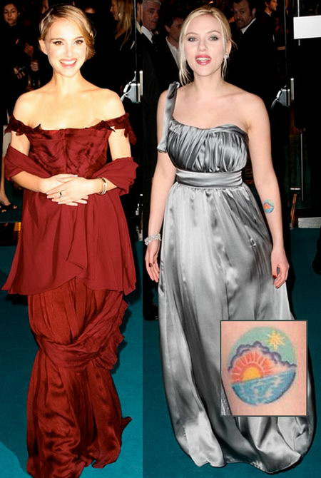 Natalie Portman and Scarlett Johansson at the Other Boleyn Girl Premiere in London
