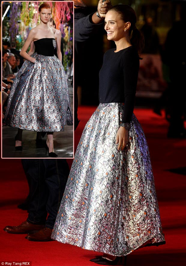 Natalie Portman Thor Red Carpet Dior