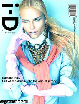 Natasha Poly I D Magazine October 2008 cover