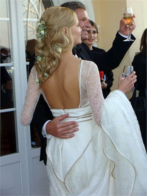 Natasha Poly white Givenchy bride dress