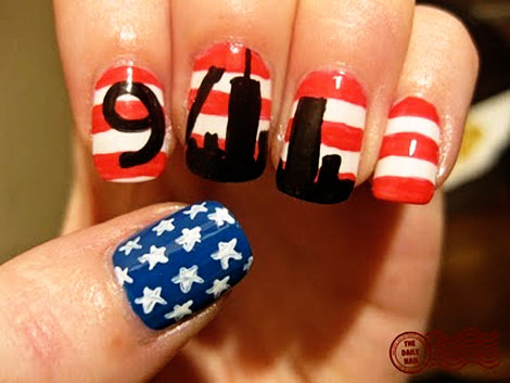 national flag 9 11 manicure