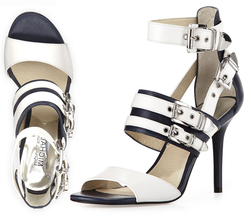 navy sandals Michael Kors