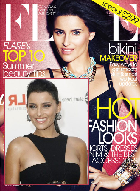 Nelly Furtado Flare Canada cover photoshopping