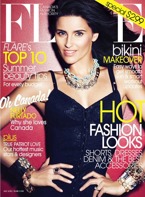 Nelly Furtado Flare Canada July 2010 cover
