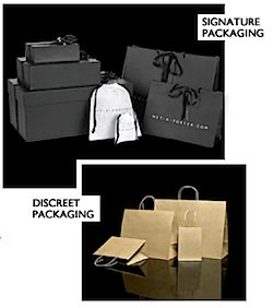 Net a Porter discreet packaging brown bags