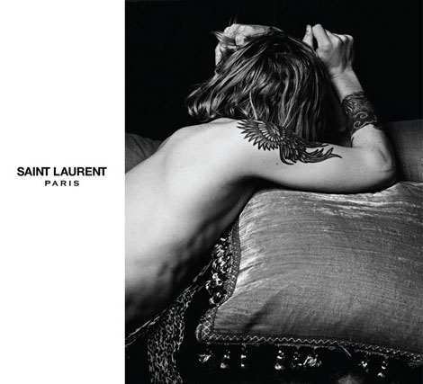 new Saint Laurent Paris ad campaign by Hedi Slimane