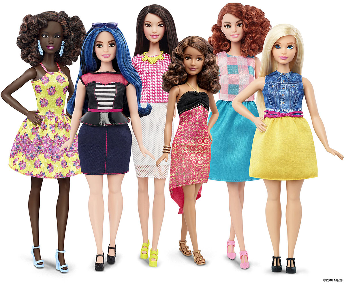 new diverse Barbie dolls