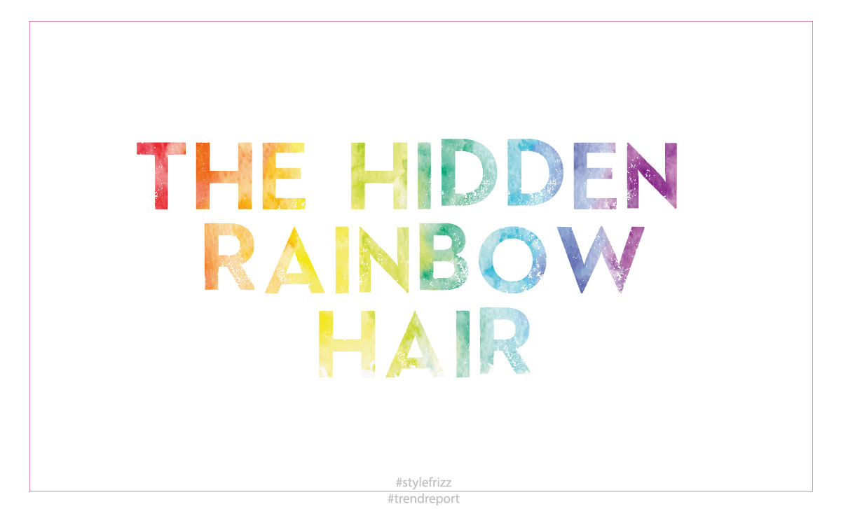 new hair trend hidden rainbow hair